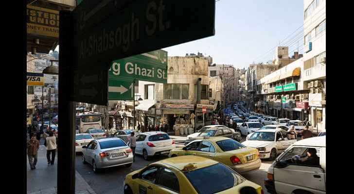 Daily traffic in Downtown Amman. (Getty Images)