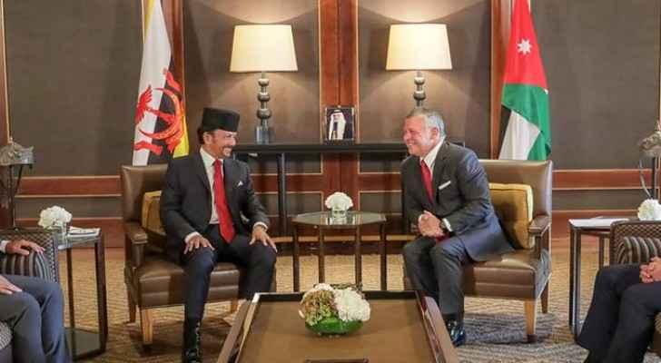 King, Crown Prince bid farewell Sultan of Brunei