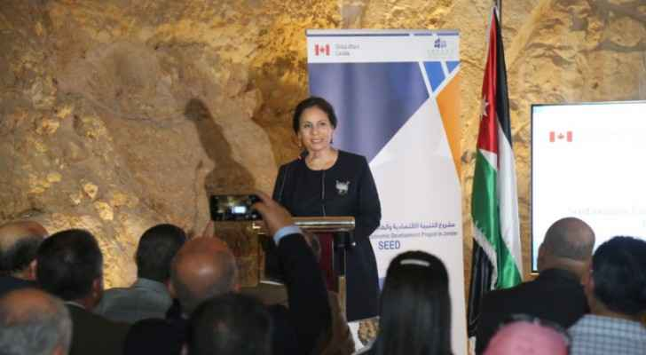 Minister of Energy, Hala Zawati, at the SEED project ceremony.
