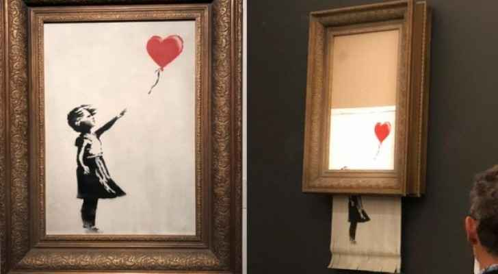"Dark Humor, ironic twist as ""Girl with Balloon"" is destroyed"