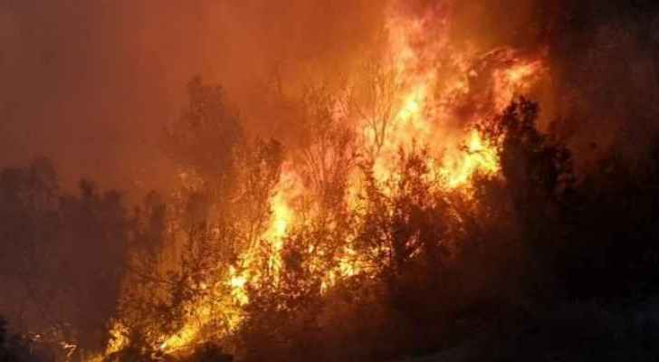 Egyptian village Al-Rashda in the New Valley Governorate on fire