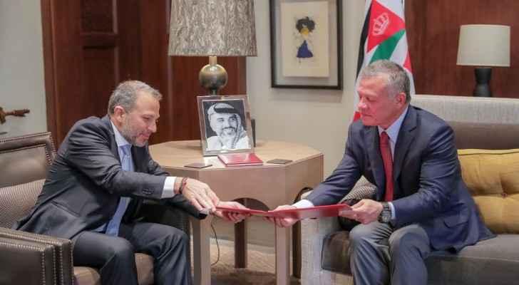 King receives Lebanese FM Gebran Bassil