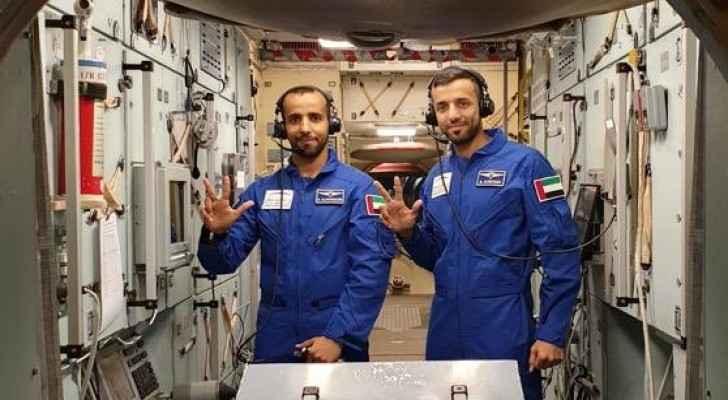Emarati astronauts Hazza Al Mansouri and Sultan Al Neyadi