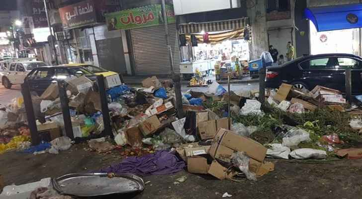 Trash spread outside a popular market in the city centre. (Roya)