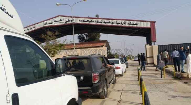 The Nasib Border Crossing will operate from 8am until 4pm, according to the Jordanian government. (Roya)