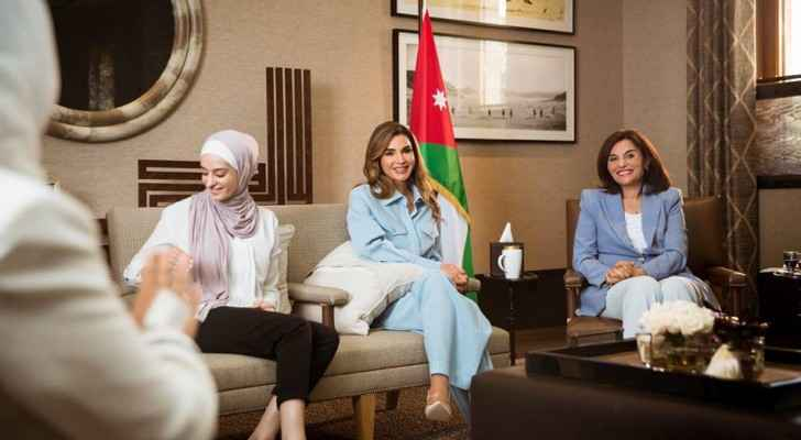 Queen meets with Jordanian women activists