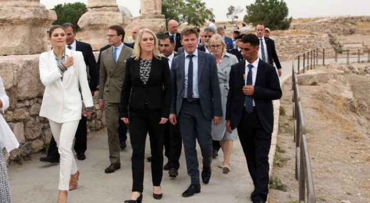 Crown Princess Victoria of Sweden visits Amman Citadel (video)