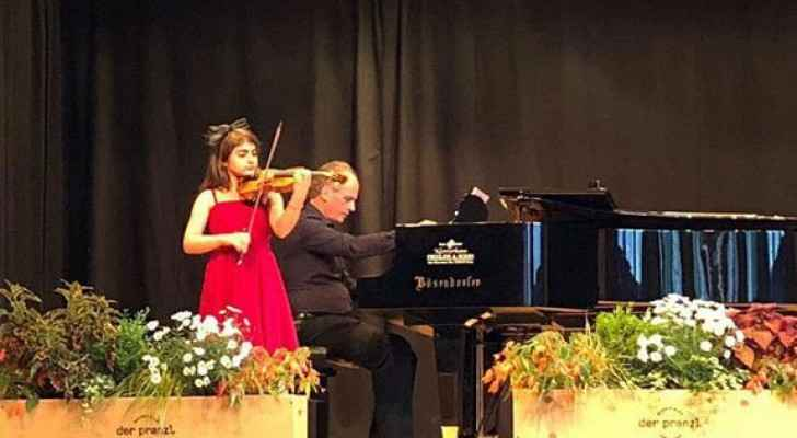 Perolene George Thani, 11 year old Syrian, youngest student at the Vienna University for Music and Performing Arts.