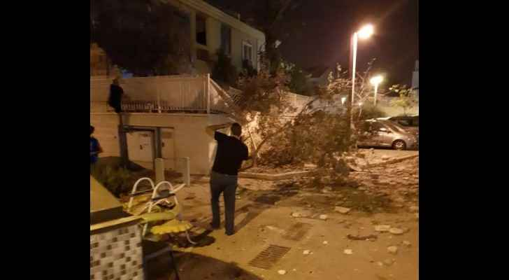The Gazan rocket fell on top of a house in Beersheba. (News.walla.co.il)
