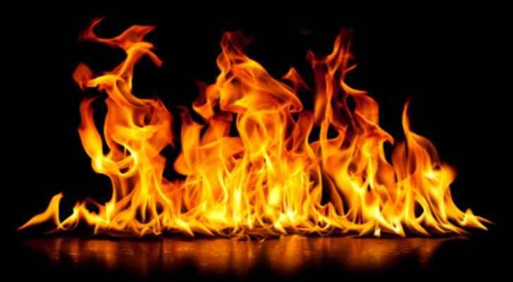 School fire in Shoubak