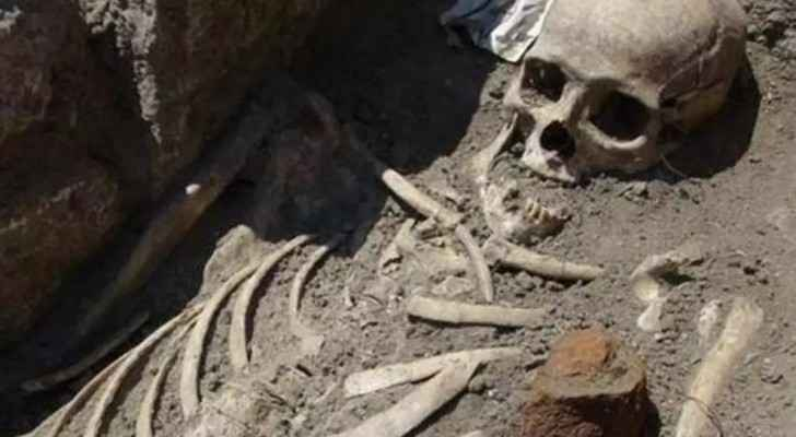 This picture does not represent the actual skeleton found in Karak. (Al Rai)