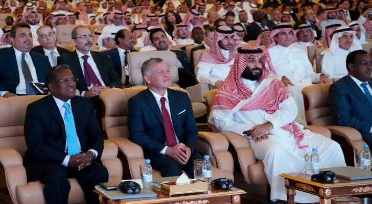 King Abdullah at the Future Investment Initiative (FII) Conference.
