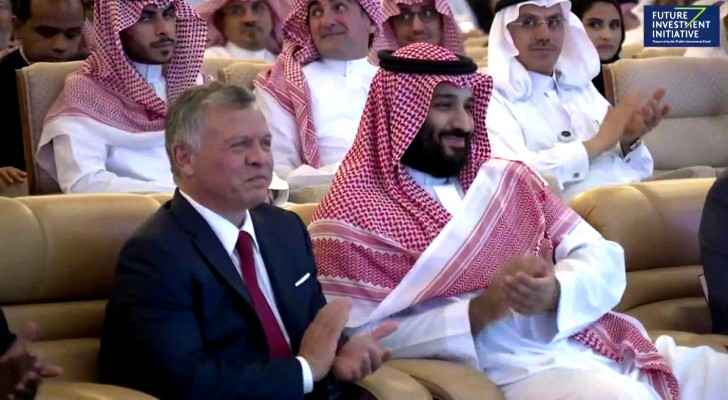 King Abdullah II with MBS in FII (Davos in the Desert)