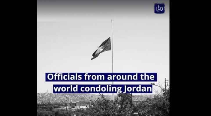 Officials from around the world condoling Jordan