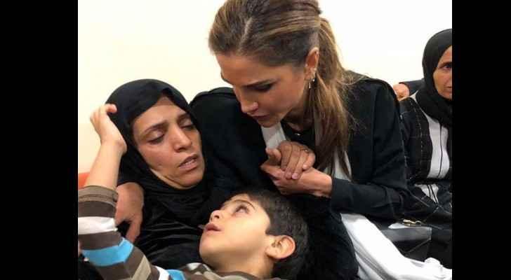 Queen Rania condoles  family of  victim in the Dead Sea tragedy