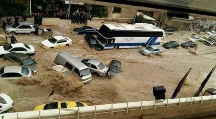 Amman was flooded by heavy rainfall in 2015. (Roya)