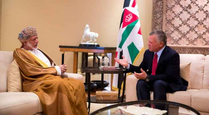 King Abdullah receives Omani Minister Responsible for Foreign Affairs