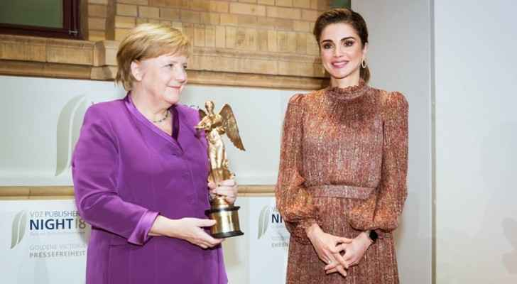 Queen Rania of Jordan and Chancellor Angela Merkel.