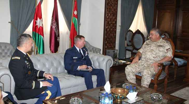 Jordanian Army Chief receives US military delegation
