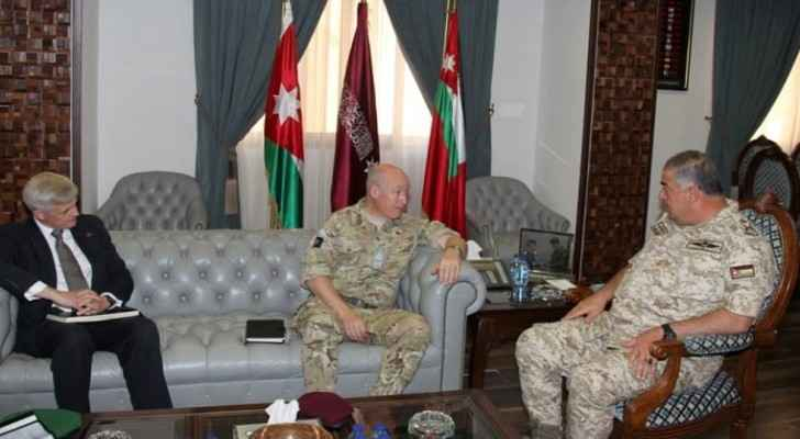 Jordanian Army Chief receives UK Defence Senior Adviser on the Middle East