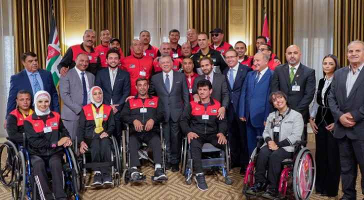 King Abdullah, Crown Prince receive participants of Invictus Games