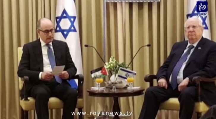 Jordanian Ambassador to Tel Aviv presents credentials