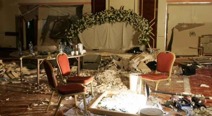 Debris lays strewn on the floor of a room being used by a wedding party following. (Public Radio International)