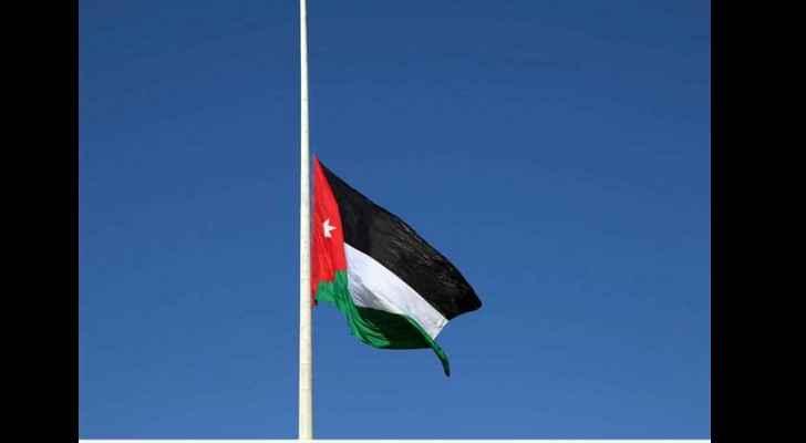 Jordanian flag at half-mast in memory of flood victims