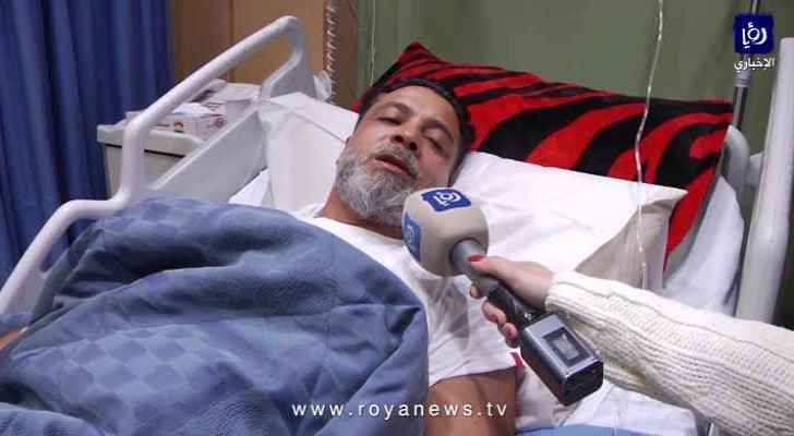 Younis Qandil talks to Roya while he lays in hospital after being kidnapped and tortured. (Roya)
