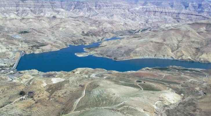 Mujib Dam in Wadi Al-Mujib.