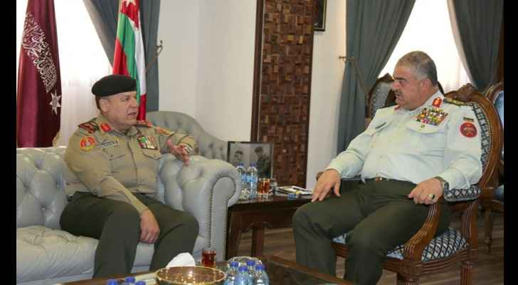 Part of the meeting between Lit. Gen. Freihat and Maj. Gen. Shammari.
