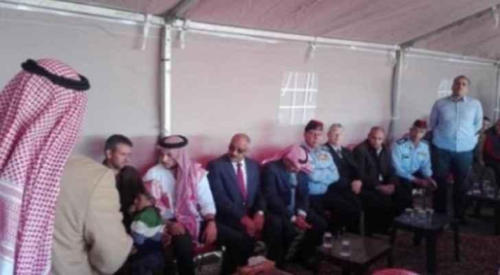 Crown Prince Al Hussein offering condolences.