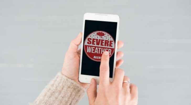 Gov't sends weather-alerts via SMS