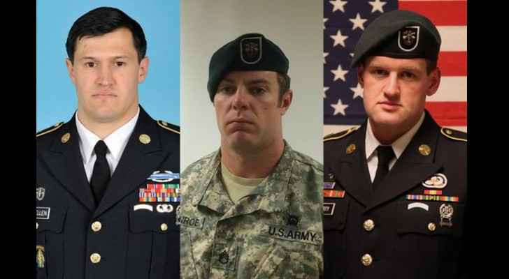from left to right: Staff Sergeant Matthew Lewellen, Staff Sergeant Kevin McEnroe, and Staff Sergeant James Moriarty
