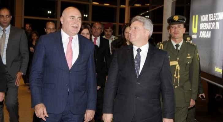 Macedonian President Gjorge Ivanov in Amman.