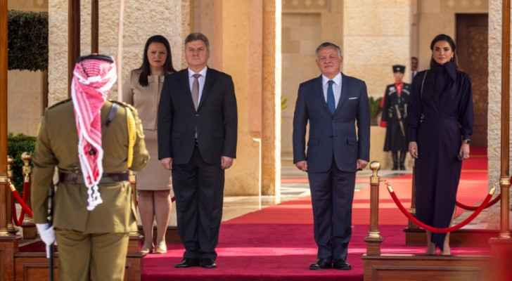 King Abdullah receives Macedonian President, Gjorge Ivanov