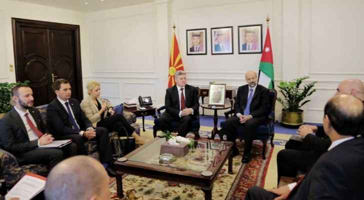 PM Razzaz meets Macedonian President, Gjorge Ivanov