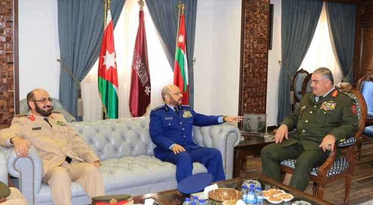 Jordanian Army Chief receives Saudi counterpart