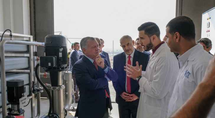 King visits Hashemite University