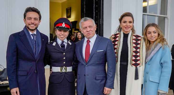 King, Queen attend Princess Salma graduation at Sandhurst