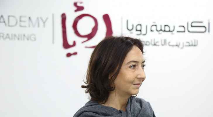 Princess Rym Ali at the Roya Academy for Media Training. (Roya)