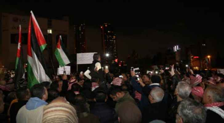 A scene from Thursday's protests near the 4th Circle. (Roya)