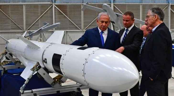Israeli Prime Minister Benjamin Netanyahu during a visit to Israel Aerospace Industries