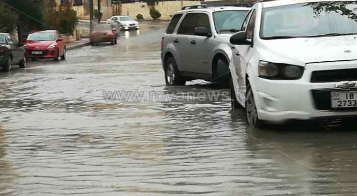 Heavy rain in Amman.