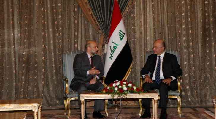 Razzaz meets Iraqi President, talk investment opportunities