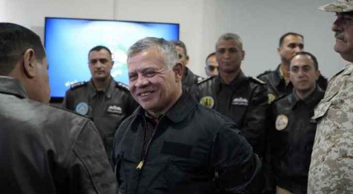 King visits King Abdullah II Air Base
