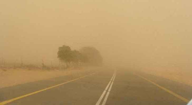 Sand storms from Egypt, increase in wind speeds in next few hours