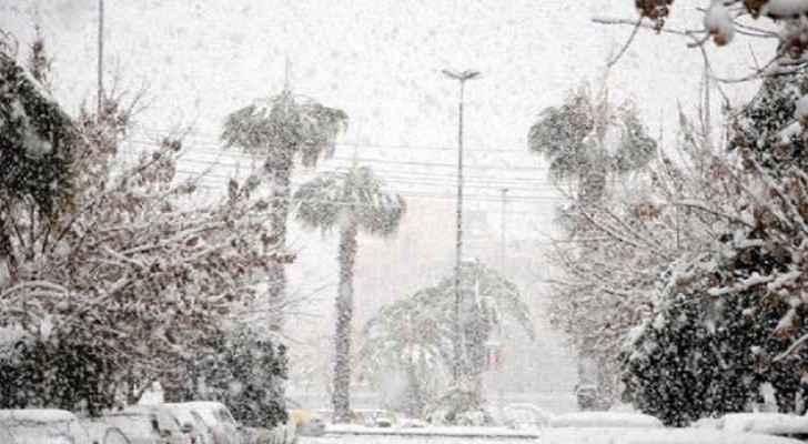 Heavy snowfall in Lebanon as polar front enters Levant