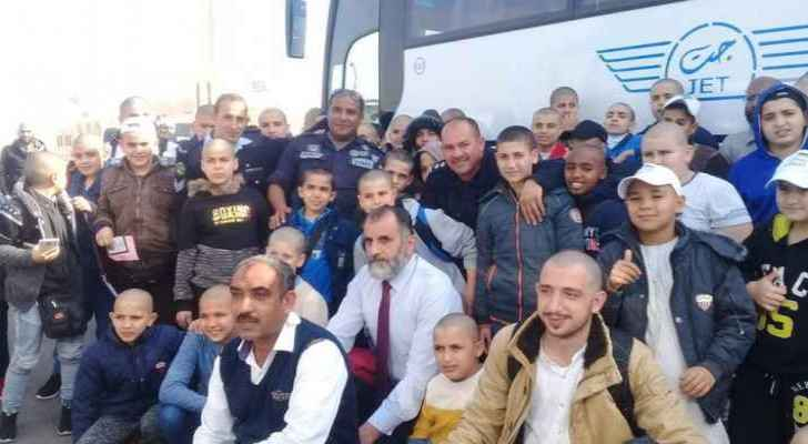 King Hussein Bridge receives 120 orphans and people of special needs