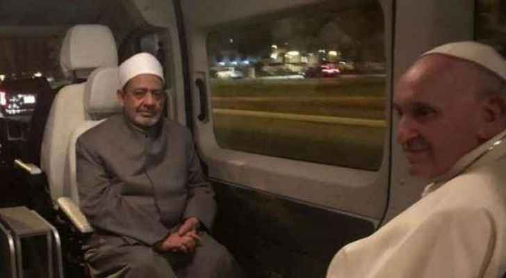 Historic moment as Pope Francis and Grand Imam of al-Azha share one house, one car